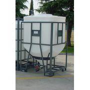 Cuve Réservoir Plastique Carrée ou Rectangulaire à Fond Conique - PE PEHD HDPE