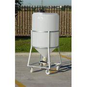 Cuve Réservoir Plastique Cylindrique Fermée à Fond Conique - PE PEHD HDPE