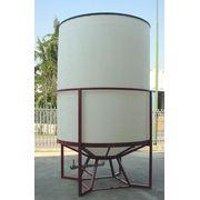 Cuve Reservoir Plastique Cylindrique à Fond Conique à Ciel Ouvert - PE PEHD HDPE