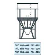 Cuve Reservoir Plastique Cylindrique à Fond Conique et à Ciel Ouvert pour Poudres et Granulés - PE PEHD HDPE